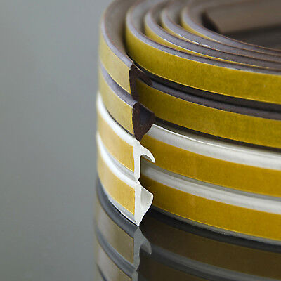 V profile brown WINDOW SEAL self-adhesive strip rubber door draught excluder