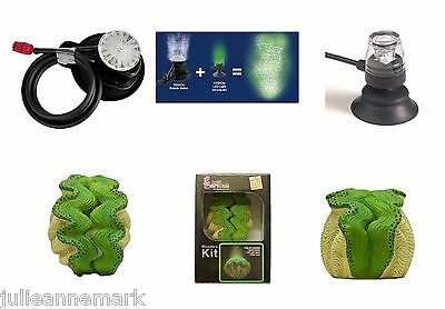 Aquarium Action Underwater Green Clam + Green Led  & Air Bubble Maker