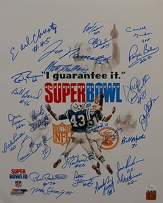 1969 New York Jets Autographed 16x20 White Super Bowl Photo- JSA W Authenticated