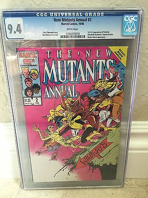 New Mutants Annual #2 Cgc 9.4 Nm 1St U.s. App Of Psylocke (Id 6474)