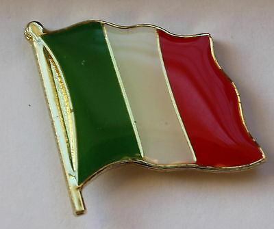 New Italy Flag Lapel Hat Pin Europe Pennant Tie Tack Pinback Italian Stallion