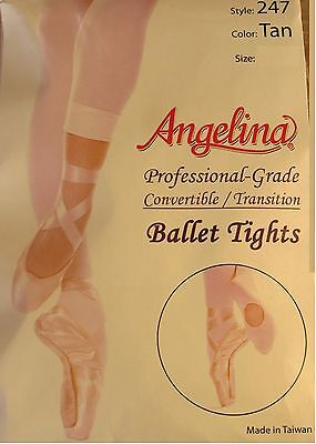 Girls Footed Convertible Ballet Tights Professional Grade Costume Dance (247jr)