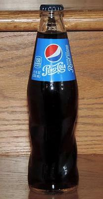 NM NEW FULL 2015 USA PEPSI 12oz CLEAR GLASS SWIRL BOTTLE - MADE WITH REAL SUGAR