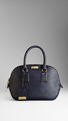 41400bfc428 NWT Burberry 100% Authentic Burberry Bag Blue Small Orchard in Grain Leather