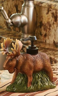Rustic Wilderness Moose Country Cabin Home Resin Soap/Lotion Dispenser