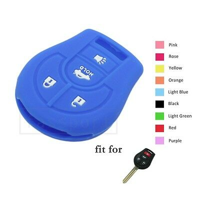 Silicone Skin Cover Shell for INFINITI Smart Key Case Fob 4 Button CV4501 RS