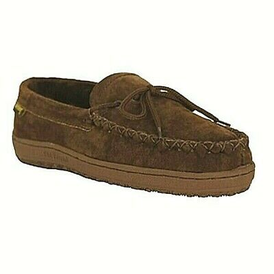 f312731232d56 Old Friend Footwear Mens Dark Brown Genuine Sheepskin Loafer Moccasin  Slipper