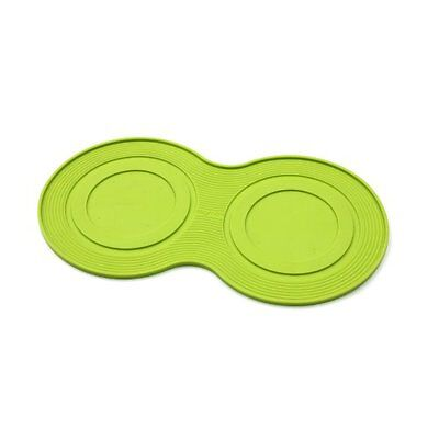 New Open Box Petprojekt Small Dogmat Dog Bowl Food Mat Green