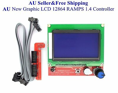 AU Graphic LCD 12864 RAMPS 1.4 Controller for RepRap 3D Printer Prusa Mendel New