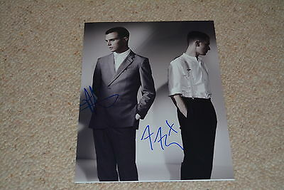 HURTS  signed autograph In Person 8x10 (20x25 cm) ELECTRONIC DUO Theo Hutchcraft