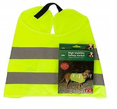 Pet Dog High Visibility Safety Jacket Visible at Night Vest Walking Coat Hi Viz