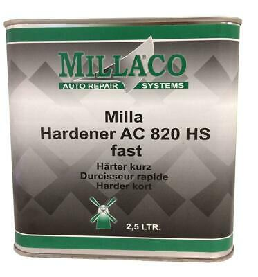 Millaco 820 HS Fast Hardener Activator for Car Lacquer Clearcoat 2.5 Litre