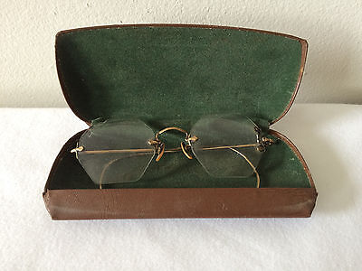 Vintage Bausch & Lomb 1/10 12K Gold Filled GF Glasses And Case Vintage Repair