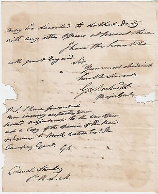 GENERAL SIR GEORGE BECKWITH, Spy in American War, rare 1803 Autograph Letter