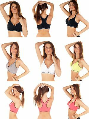 Damen Racerback Sport BH Top - Light-Impact - Push-Up-BHs Bustier Bra, 010-8818