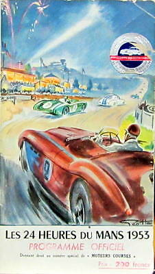1953 24 Hours Of Mans 24 Heures Du Mans Original Running Program Programme