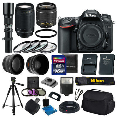 Nikon D7200 DSLR Camera 9 lens 32GB Kit: 18-55 VR 70-300mm 500mm +More Top Value