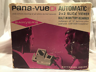 Pre-owned Vintage Pana-Vue Automatic Lighted 2x2 Slide Viewer In Original Box