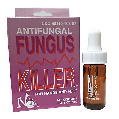 (1pc) No Miss Antifungal Fungus Killer for hands and feet 1/4 fl.oz. 7ml NEW