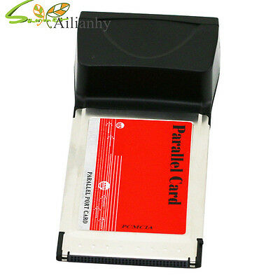 PCMCIA Parallel Printer LPT Port Cardbus Adapter Converter Fr Laptop+Driver Disk