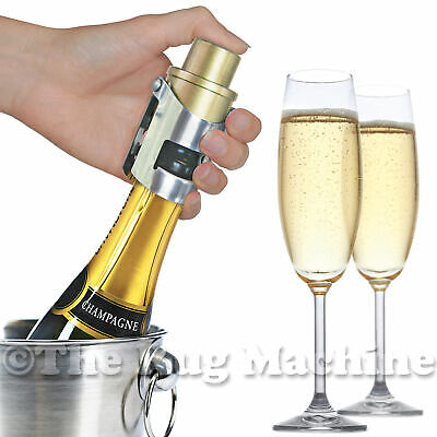 PUMP IT UP CHAMPAGNE STOPPER - GOLD -  Keeps Champagne Fresh! - With Date Dial!