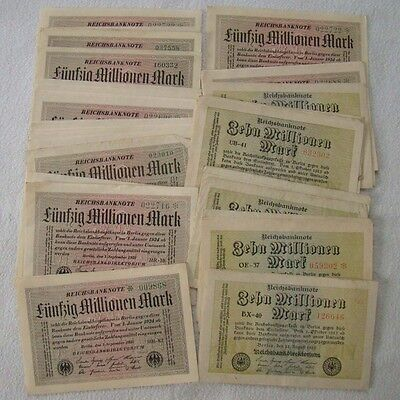 Inflation - Lot 10 und 50 Millionen Mark 1923 - Art. 4442