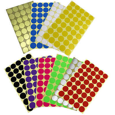 200×25mm Coloured DOT STICKERS Round Sticky Adhesive Spot Circles Paper Labels