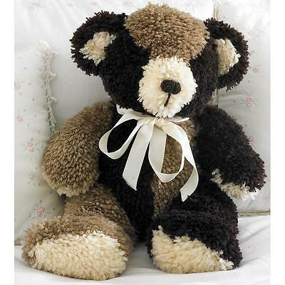 "Huggables 3D Buster Teddy Bear Latch Hook Kit  20"" Tall NEW By MCG Textiles"