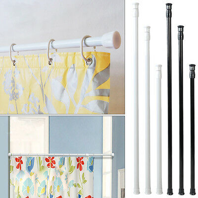 Home Organize Adjustable Spring Tension Rod Pole Window Curtain Shower Bathroom