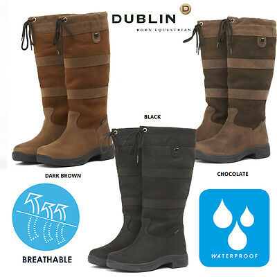 Waterproof Dublin River Riding Yard Stable Walking Leather Country Boots Uk All