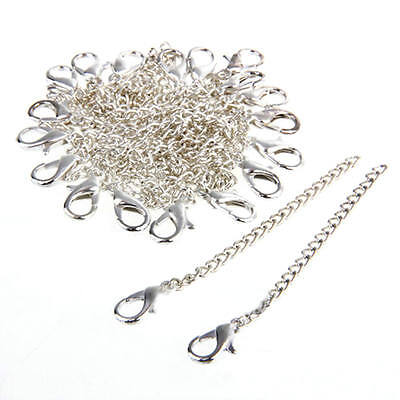 20 Silver Plated Necklace Chain Extender+Lobster Clasp Jewelry Finding