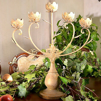 Charming victorian 5arms candelabra candle holder candlestick table decor 058