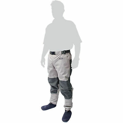 Superb New Leeda Volare Stocking Foot Breathable Waist Waders Fishing- All Sizes