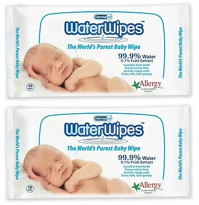 Water Wipes - 60 Wipes (Pack of 2)