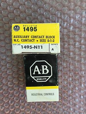 LOT OF 28 Allen Bradley Auxiliary Contact 1495-N11 1495N11 (NEW IN BOX)