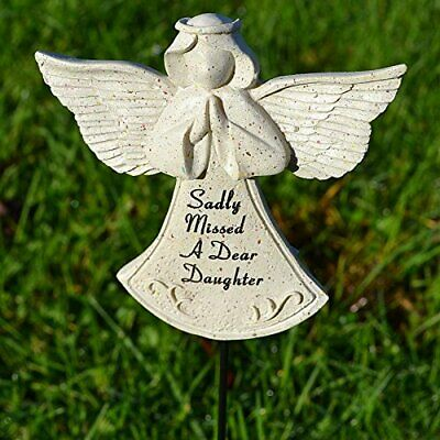 Sadly Missed Daughter Guardian Angel Memorial Tribute Stick Graveside Plaque