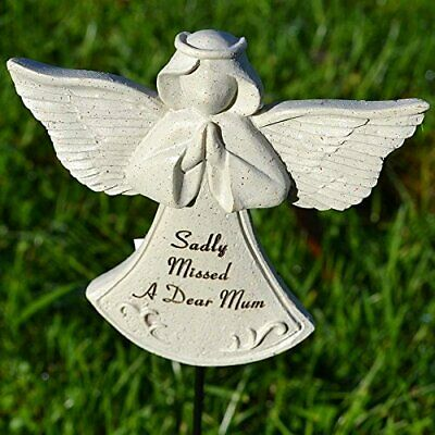 Sadly Missed Mum Guardian Angel Memorial Tribute Stick Graveside Plaque
