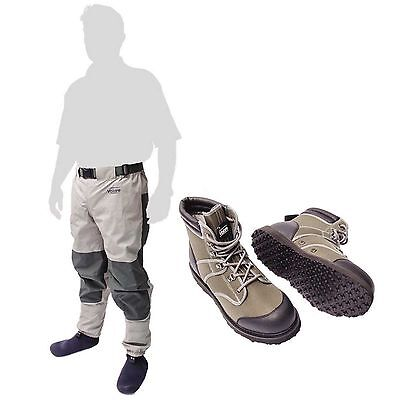 New Leeda Volare Stocking Foot Breathable Waist Waders + Volare Wading Boots