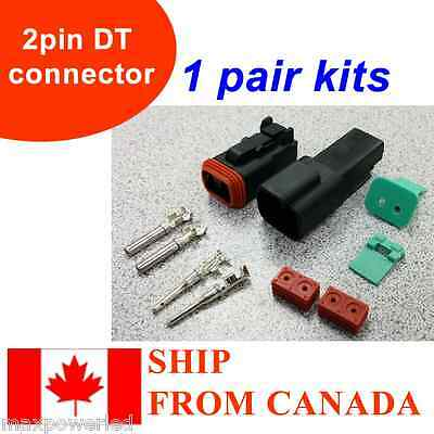 Pair 2 Pin Waterproof Electrical Wire Connector Plug DT04-2p and DT06-2S