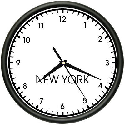 NEW YORK TIME Wall Clock world time zone clock office business
