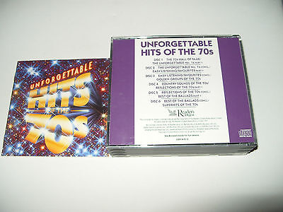 Unforgetable Hits Of The 70s Seventies 6 cd Readers Digest 1991-109 tracks Ex Co