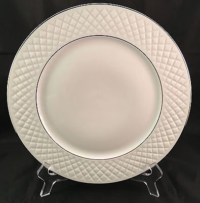 1 Block Spal Diamante White Dinner Plate 10 5/8""