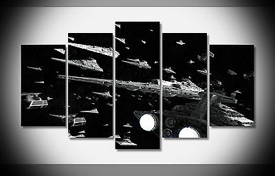 2627 Star War Huge size imperial fleet movie Poster framed print on canvas New