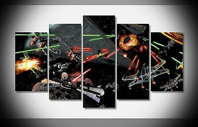 4512 Space Battle Star Wars Millennium Falcon Poster picture Huge size framed