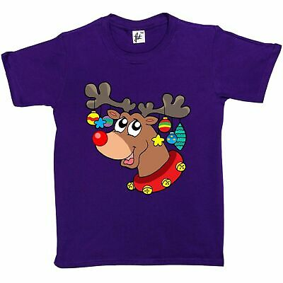 Rudolph with Xmas Decorations Kids Boys / Girls T-Shirt