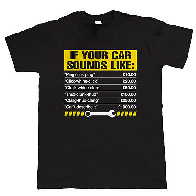 If Your Car Sounds Like, Mens Funny Mechanic T-Shirt - Gift for Him Dad