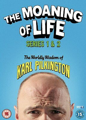 The Moaning of Life Series 1 + 2 DVD Set Karl Pilkington NewFast Post