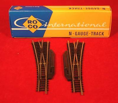Roco Medium Radius Left & Right Hand Manual Points N Gauge 2466L/2467R