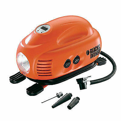 Black&Decker compressore portatile air station 8.27bar auto moto bici asi200