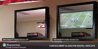 "TVGlass Pilkington MirroView crate: 2 pcs 72""x40""; 3 pcs 60""x40""; 5 pcs 42""x36"""